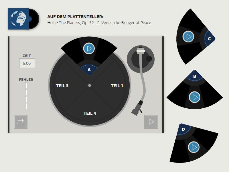 WELT Plattenquiz als Casual Game mit Lerneffekt, Musik in richtiger Reihenfolge