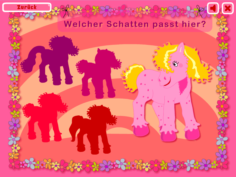 Spiel für Kinder - Schatten erraten