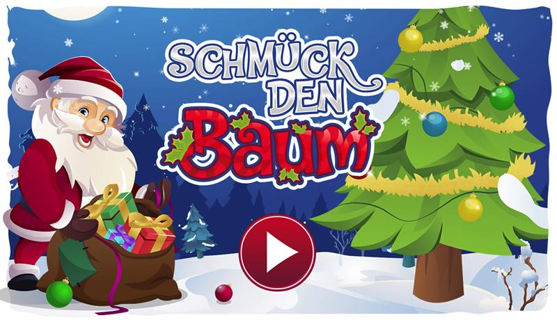 Online Game Schmück den Baum als Werbespiel oder Gewinnspiel zu Weihnachten