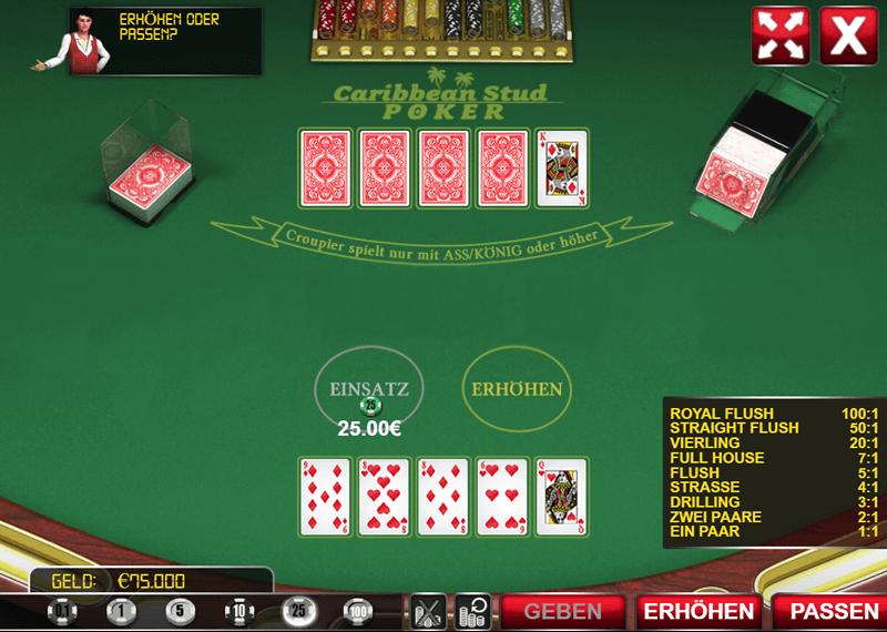 Casino Game Poker als Casual Game oder Gewinnspiel