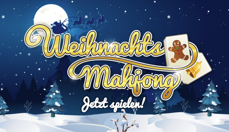 Online Game Mahjong als Adgame oder Gewinnspiel für Ihre Kampagne zu Weihnachten