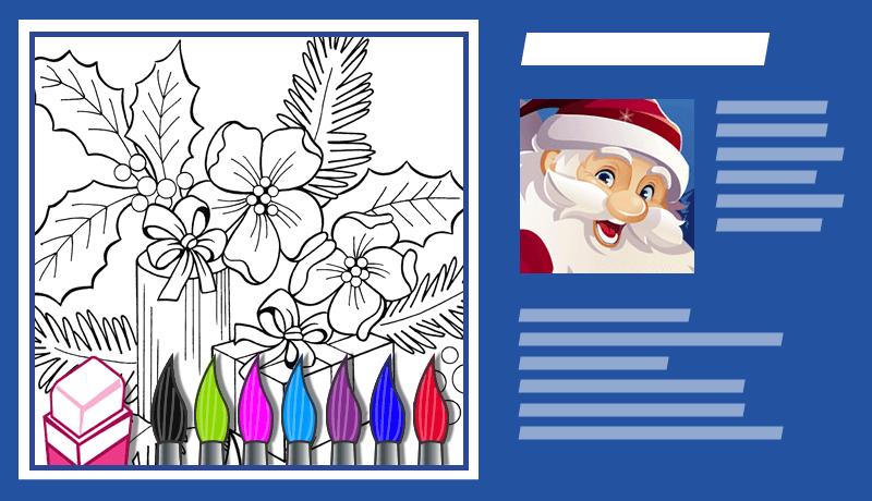 Online E-Cards zum Ausmalen für Ihre Weihnachts Kampagne