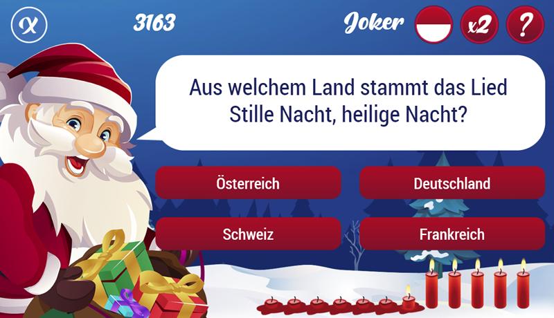 Online Game Quiz als Werbespiel oder Gewinnspiel für Ihre Kampagne zu Weihnachten