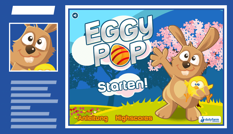 Casual Game Eggy Pop für Ihre Marketing Kampagne