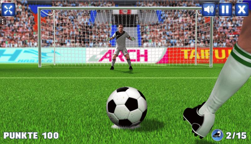 Fussball Games als Werbespiel oder Gewinnspiel zur Fussball Saison 2019