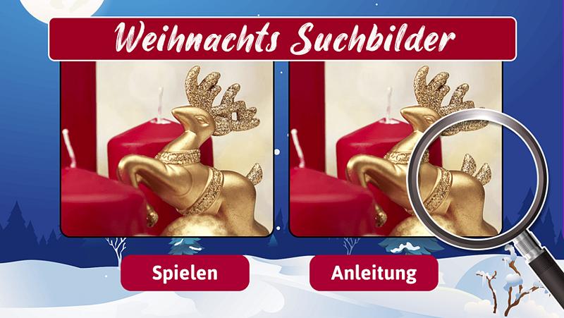 Online Game Weihnachts Suchbilder als Adgame oder Gewinnspiel für Ihre Kampagne zu Weihnachten